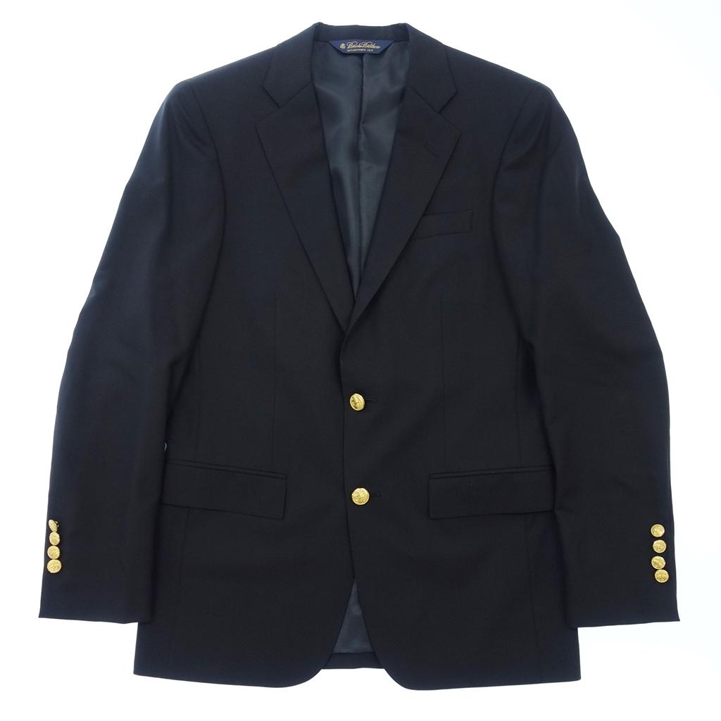 美品◆Brooks Brothers ブルックスブラザーズ マディソン カノニコ生地 金ボタン 2Bシングルテーラードジャケット