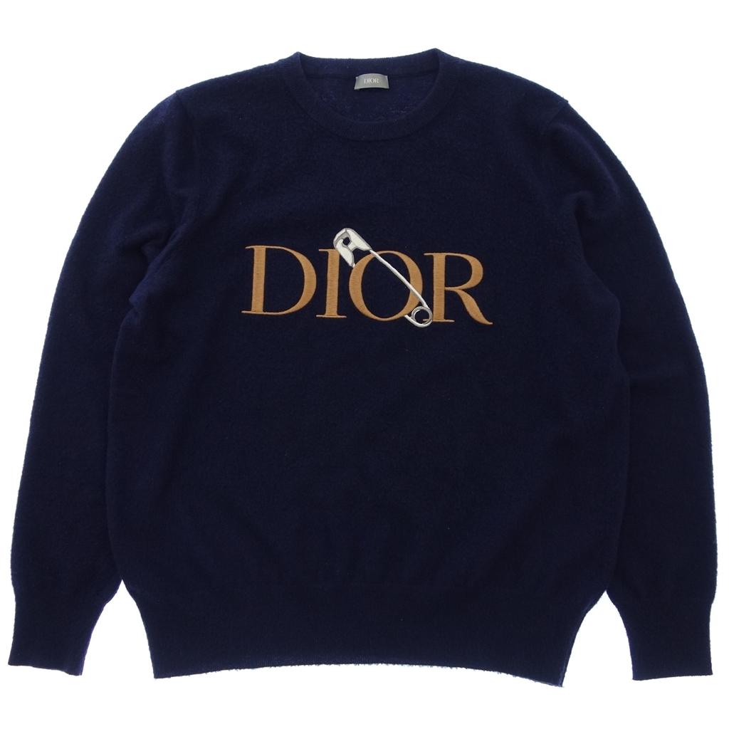 ◆Dior HOMME ディオールオム 20AW クルーネック ニット セーター 刺繍 X3L ネイビー メンズ