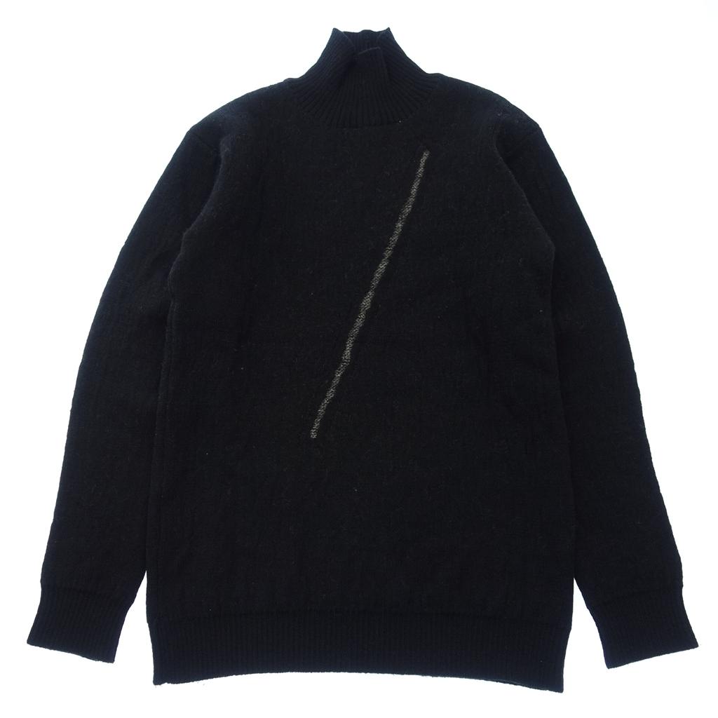 Yohji Yamamoto POUR HOMME ヨウジヤマモト プールオム 15AW コレクション着用 ウール タートルネック ニット セーター 黒 メンズ